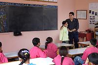 Egypte, Belbeis, 03 mei 2007.Sekem.Sekem school, 3e klas.Sekem school.Foto (c) Michiel Wijnbergh.