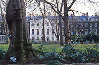 """London: Bedford Square, Bloomsbury.  Summerson--""""No designer's name can confidently be given."""""""