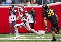 Hawgs Illustrated/BEN GOFF <br /> Nathan Parodi, Arkansas defensive back, returns a punt for 30 yards in the third quarter vs Missouri Saturday, Nov. 29, 2019, at War Memorial Stadium in Little Rock.