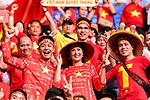 Fans of Vietnam cheers during the AFC Asian Cup UAE 2019 Quarter Finals match between Vietnam (VIE) and Japan (JPN) at Al Maktoum Stadium on 24 January 2019 in Dubai, United Arab Emirates. Photo by Marcio Rodrigo Machado / Power Sport Images