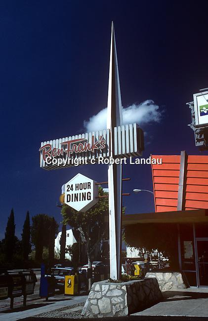Ben Frank's sign, Sunset Strip 1989