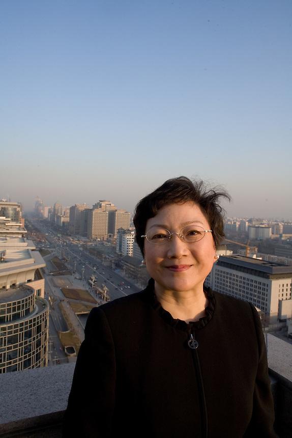 Daughter of the lat Deng Xiaoping, Deng Rong at the Beijing Hotel Monday January 8, 2007.