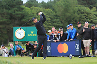 Justin Rose (ENG) on the 12th tee during 1st round of the 148th Open Championship, Royal Portrush golf club, Portrush, Antrim, Northern Ireland. 18/07/2019.<br /> Picture Thos Caffrey / Golffile.ie<br /> <br /> All photo usage must carry mandatory copyright credit (© Golffile | Thos Caffrey)