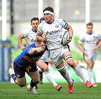 Francois Louw of Bath Rugby in possession. European Rugby Champions Cup quarter final, between Leinster Rugby and Bath Rugby on April 4, 2015 at the Aviva Stadium in Dublin, Republic of Ireland. Photo by: Patrick Khachfe / Onside Images