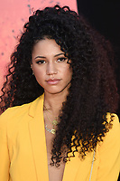 Vick Hope arriving for the &quot;Rampage&quot; premiere at the Cineworld Empire Leicester Square, London, UK. <br /> 11 April  2018<br /> Picture: Steve Vas/Featureflash/SilverHub 0208 004 5359 sales@silverhubmedia.com