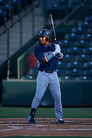 AZL Padres 1 Yordi Francisco (5) at bat during an Arizona League game against the AZL Angels on July 16, 2019 at Tempe Diablo Stadium in Tempe, Arizona. The AZL Padres 1 defeated the AZL Angels 3-1. (Zachary Lucy/Four Seam Images)