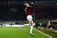 Samuel Castillejo celebrates after scoring a goal during the Serie A 2018/2019 football match between AC Milan and SPAL at stadio Giuseppe Meazza in San Siro, Milano, December 29, 2018 <br /> Foto Image Sport / Insidefoto
