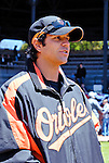 21 May 2007:  Baltimore Orioles infielder Brian Roberts watches his teammates at Doubleday Field prior to Baseball's Annual Hall of Fame Game in Cooperstown, NY. The Orioles defeated the visiting Toronto Blue Jays 13-7...Mandatory Credit: Ed Wolfstein Photo