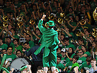 Feb. 28, 2011; The Leprechaun leads the student section at Men's Basketball...Photo by Matt Cashore