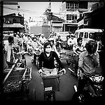 Traffic in Phnom Penh, Cambodia.