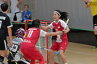 Singapore&rsquo;s Amanda Yeap in action during the World Floorball Championships 2017 Qualification for Asia Oceania Region - Singapore v Thailand at ASB Sports Centre , Wellington, New Zealand on Sunday 5 February 2017.<br /> Photo by Masanori Udagawa<br /> www.photowellington.photoshelter.com.