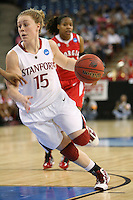 SACRAMENTO, CA - MARCH 27:  Lindy La Rocque of the Stanford Cardinal during Stanford's 73-36 win over Georgia in the third round of the NCAA Women's Basketball Championships on March 27, 2010 at Arco Arena in Sacramento, California.