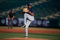 AZL Padres 1 starting pitcher Edgar Martinez (10) during an Arizona League game against the AZL Angels on July 16, 2019 at Tempe Diablo Stadium in Tempe, Arizona. The AZL Padres 1 defeated the AZL Angels 3-1. (Zachary Lucy/Four Seam Images)