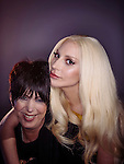 Diana Warren and Lady Gaga, Photographed at the Oscar Luncheon at The Beverly Hilton February 8, 2016