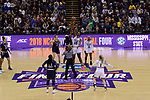 COLUMBUS, OH - APRIL 1: Tip off of the championship game of the 2018 NCAA Division I Women's Basketball Final Four between Notre Dame and Mississippi State at Nationwide Arena in Columbus, Ohio. (Photo by Evert Nelson/NCAA Photos via Getty Images)