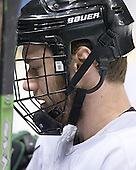 Taylor Chorney - The University of North Dakota Fighting Sioux practice on Wednesday, April 5, 2006, at the Bradley Center in Milwaukee, Wisconsin prior to taking on Boston College in the 2006 Frozen Four Semi-Final the following day.