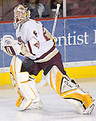 Joe Pearce is announced as starter - The Boston College Eagles and Ferris State Bulldogs tied at 3 in the opening game of the Denver Cup on Friday, December 30, 2005, at Magness Arena in Denver, Colorado.  Boston College won the shootout to determine which team would advance to the Final.