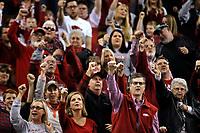 Arkansas Democrat-Gazette/THOMAS METTHE -- 12/16/2018 --<br /> Arkansas fans cheer during the first half of the Razorbacks' 79-67 win on Saturday, Dec. 15, 2018, at Verizon Arena in North Little Rock.