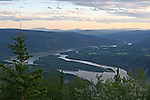 View from Solomon's Dome near Dawson city, The Yukon Territory, Canada