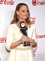 "LAS VEGAS, NV - APRIL 26: Recipient of the ""Lifetime Achievement Award"", Jodie Foster attends the CinemaCon Big Screen Achievement Awards at CinemaCon 2018 at The Colosseum at Caesars Palace on April 26, 2018 in Las Vegas, Nevada. (Photo by Frank Micelotta/PictureGroup)"