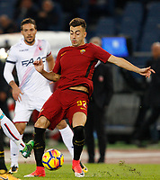 Roma's Stephan El Shaarawy in action during the Serie A football match between Roma and Bologna at Rome's Olympic stadium, October 28, 2017.<br /> UPDATE IMAGES PRESS/Riccardo De Luca