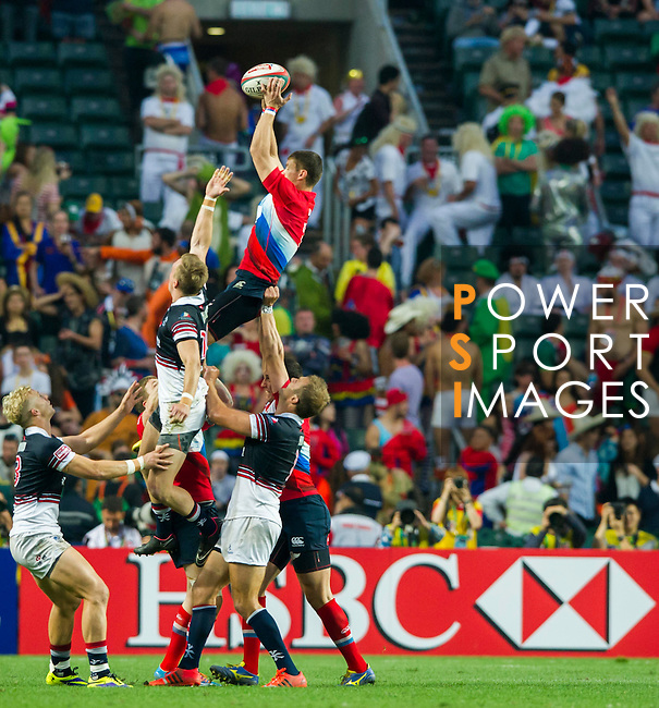 Hong Kong vs Russia during the HSBC Sevens Wold Series Qualifier Quarter Finals match as part of the Cathay Pacific / HSBC Hong Kong Sevens at the Hong Kong Stadium on 28 March 2015 in Hong Kong, China. Photo by Juan Manuel Serrano / Power Sport Images