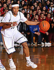 Shane Gatling #11 of Baldwin dribbles downcourt during the Class AA varsity boys basketball Long Island Championship against Half Hollow Hills West at LIU Post on Sunday, Mar. 6, 2016. Baldwin outscored Hills West 15-3 in the fourth quarter and won by a score of 65-55.