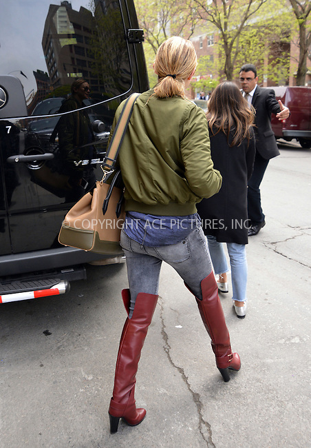 WWW.ACEPIXS.COM<br /> <br /> May 2 2016, New York City<br /> <br /> Actress Kate Hudson wears high boots and jeans as she leaves a downtown hotel on May 2 2016 in New York City<br /> <br /> By Line: Curtis Means/ACE Pictures<br /> <br /> <br /> ACE Pictures, Inc.<br /> tel: 646 769 0430<br /> Email: info@acepixs.com<br /> www.acepixs.com
