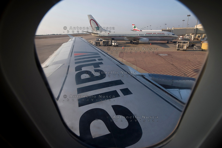 Aerei all'aeroporto di Fiumicino
