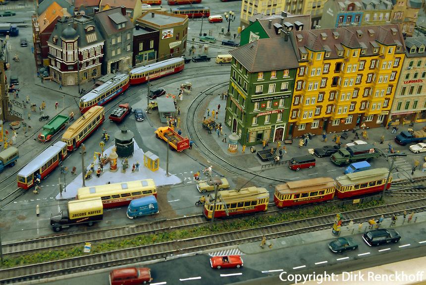 Modelleisenbahnmuseum Miniaturwunderland in der Speicherstadt, Hamburg, Deutschland
