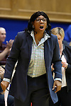 03 December 2015: Minnesota assistant coach Nikita Lowry Dawkins. The Duke University Blue Devils hosted the University of Minnesota Golden Gophers at Cameron Indoor Stadium in Durham, North Carolina in a 2015-16 NCAA Division I Women's Basketball game. Duke won the game 84-64.