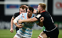 17th November 2019,  Paris La Défense Arena, Hauts-de-Seine, France; Champions Cup Rugby Union, Racing 92 versus Saracens;  JUAN IMHOFF (Racing) is tackled by J Wray (Saracens )