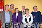 Bernard Connor, Rev Jim Stephens, Margaret O'Connor, Christy Moriarty, Mary and Tadgh Brosnan at the Milltown Credit Union 40th anniversary celebrations in Milltown Community hall on Friday night