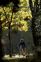 Josh Behr  riding Isla Bike ..Virginia Water , Surrey  October 2009..pic copyright Steve Behr / Stockfile