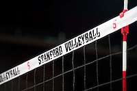 STANFORD, CA - September 2, 2010: Volleyball net during a volleyball match against UC Irvine in Stanford, California. Stanford won 3-0.