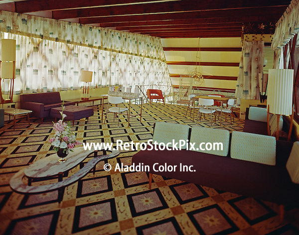 Satellite Motel, Wildwood, NJ Upstairs Lobby - 1965