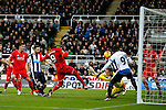 Christian Benteke of Liverpool hits this chance over the bar - English Premier League - Newcastle Utd vs Liverpool - St James' Park Stadium - Newcastle Upon Tyne - England - 6th December 2015 - Picture Simon Bellis/Sportimage