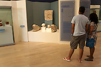Tourits in the Museo Maya de Cancun or Cancun Mayan Mayan Museum that opened in November 2012, Cancun, Mexico      .
