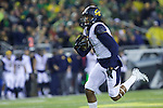 Oct 07, 2015; Eugene, OR, USA; California Golden Bears wide receiver Maurice Harris (3) runs upfield after a reception against the Oregon Ducks at Autzen Stadium. <br /> Photo by Jaime Valdez