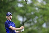 Noah Bickerstaff (Massereene) during the Connacht U14 Boys Amateur Open, Ballinasloe Golf Club, Ballinasloe, Galway,  Ireland. 10/07/2019<br /> Picture: Golffile | Fran Caffrey<br /> <br /> <br /> All photo usage must carry mandatory copyright credit (© Golffile | Fran Caffrey)