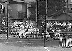 American Legion Baseball:  Bethel Park vs Arnold to advance to the state American Legion Playoffs.  Bobby Campbell swinging and hitting during the game.  Bob Purkey pitched a shut out (1-0) and the team advance to the state playoffs in Allentown PA - 1970.  Gary Biro on deck. Others in the photo; Mr and Mrs Bob Purkey Sr, Mike Stewart, Paul Hauck, Skip Uhl, and Craig Balmford.