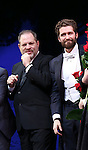 Harvey Weinstein and Matthew Morrison during the Broadway Opening Night Performance curtain call for  'Finding Neverland'  at The Lunt-Fontanne  Theatre on April 15, 2015 in New York City.