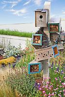 Attracting Wildlife, insects & Birds to Backyard Garden, bird house, feeders, habitat for wildlife