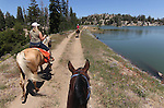 A horseback ride to Upper Sunset Lake in Alpine County, Ca.,  on Wednesday, Aug. 10, 2011..Photo by Cathleen Allison