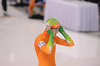 SCHAATSEN: CALGARY: Olympic Oval, 09-11-2013, Essent ISU World Cup, 500m, Margot Boer (NED), ©foto Martin de Jong