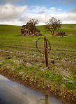 Oregon, The Dalles, Dufur. The Charles E. Nelson homestead in late winter.