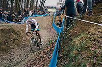 VAN DER POEL Mathieu (NED/Corendon-Circus) coming down the dirt jump section<br /> <br /> GP Sven Nys (BEL) 2019<br /> DVV Trofee<br /> &copy;kramon