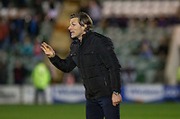 Wycombe manager Gareth Ainsworth urges his players to concentrate after scoring a late equaliser during the Sky Bet League 2 match between Plymouth Argyle and Wycombe Wanderers at Home Park, Plymouth, England on 26 December 2016. Photo by Mark  Hawkins / PRiME Media Images.