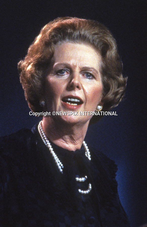 """MARGARET THATCHER DIES AGED 87-YEAR-OLD..MARGARET THATCHER.Scottish Conservative Party Conference, Perth, Scotland_1987.Mandatory credit photo:©Francis Dias/NEWSPIX INTERNATIONAL..**ALL FEES PAYABLE TO: """"NEWSPIX INTERNATIONAL""""**..PHOTO CREDIT MANDATORY!!: NEWSPIX INTERNATIONAL(Failure to credit will incur a surcharge of 100% of reproduction fees)..IMMEDIATE CONFIRMATION OF USAGE REQUIRED:.Newspix International, 31 Chinnery Hill, Bishop's Stortford, ENGLAND CM23 3PS.Tel:+441279 324672  ; Fax: +441279656877.Mobile:  0777568 1153.e-mail: info@newspixinternational.co.uk"""