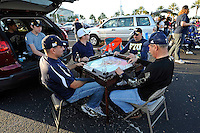 20 December 2011:  FIU fans tailgate Miami-style prior to the game.  The Marshall University Thundering Herd defeated the FIU Golden Panthers, 20-10, to win the Beef 'O'Brady's St. Petersburg Bowl at Tropicana Field in St. Petersburg, Florida.